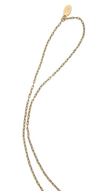 T. Kilburn Crystal Horn Cluster Necklace