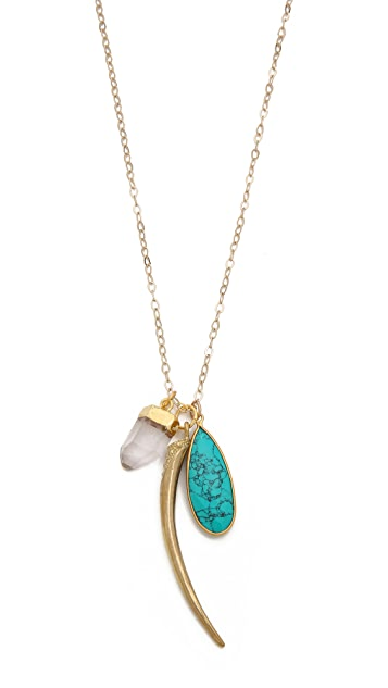 T. Kilburn Turquoise Cluster Necklace