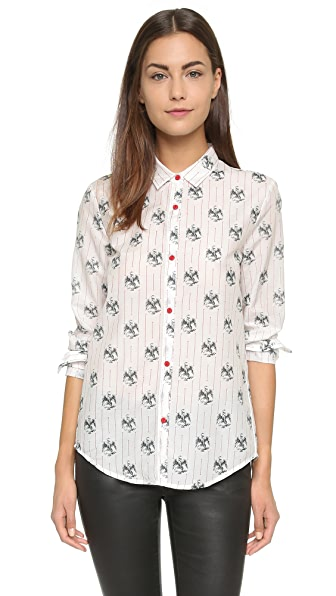 The Kooples Eagle Print Shirt