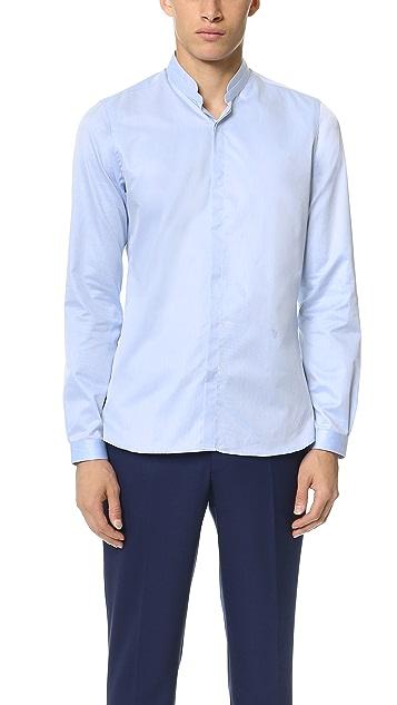 The Kooples Stand Collar Shirt