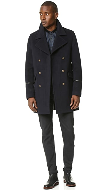 The Kooples Double Breasted Officer Coat