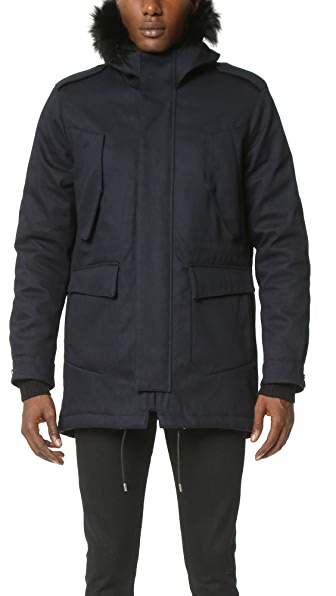 The Kooples Cotton Twill Parka