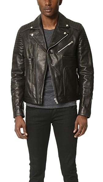 The Kooples Sport Leather Jacket