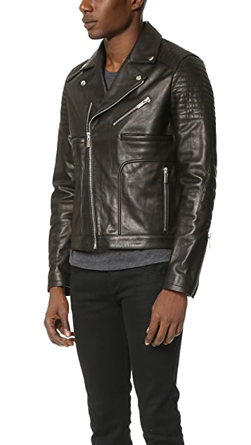 The Kooples Sport Leather Jacket