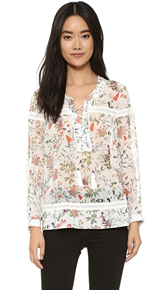 The Kooples Botanic Blouse - White