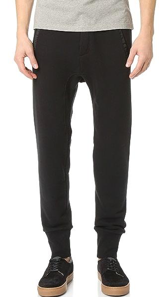 The Kooples Sport Nylon Mix Pants