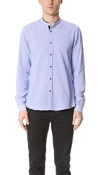 The Kooples Sport Woven Stripe Shirt
