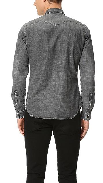 The Kooples Used Effect Denim Shirt