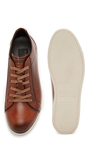 To Boot New York Bancroft Burnished Leather Sneakers