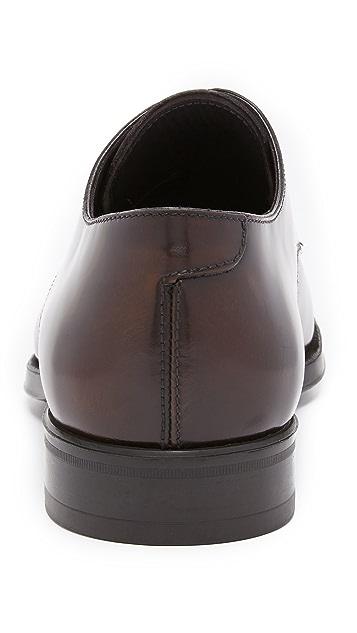 To Boot New York Buchanan High Shine Plain Toe Derbies