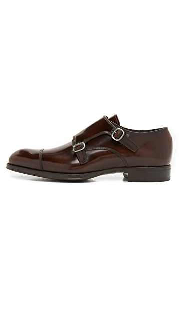 To Boot New York Bailey High Shine Double Monk Strap Shoes