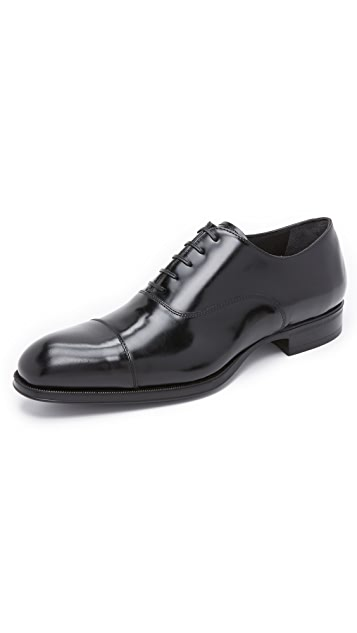 To Boot New York Dillon High Shine Cap Toe Oxfords