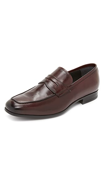 To Boot New York Clifton Burnished Leather Loafers