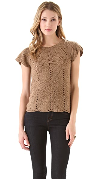 Tocca Polly Crochet Top