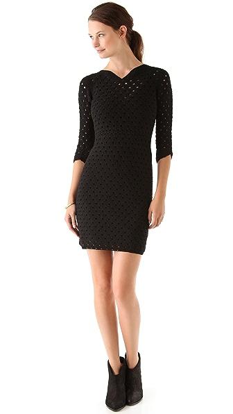 Tocca Bianca Crochet Dress