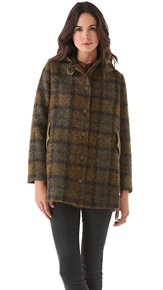Tocca Gilbert Hooded Mohair Coat