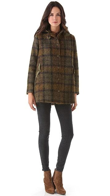 Tocca Gilbert Hooded Mohair Coat