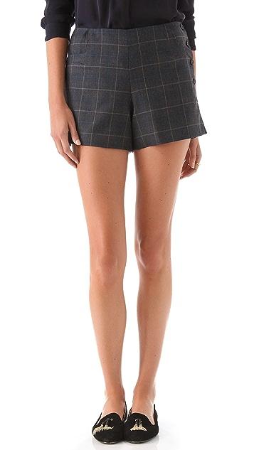 Tocca Leah Plaid Shorts
