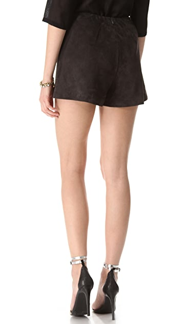 Tocca Marcie Suede Shorts