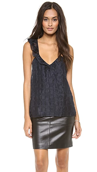 Tocca Arabesque Ruffle Top