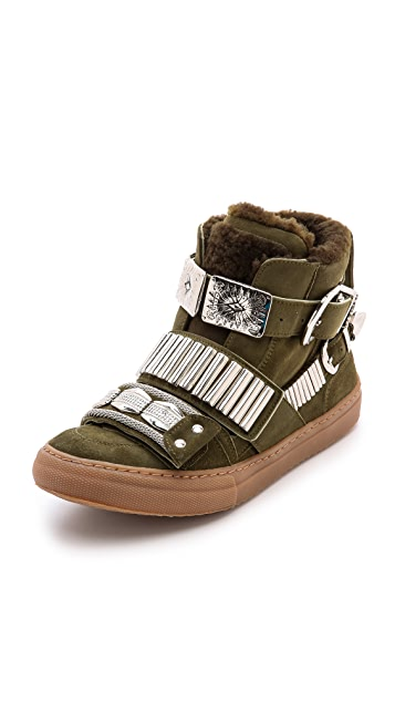 Toga Pulla Shearling Lined Sneakers