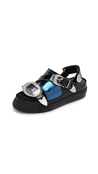 Toga Pulla Buckle Slide Sandals