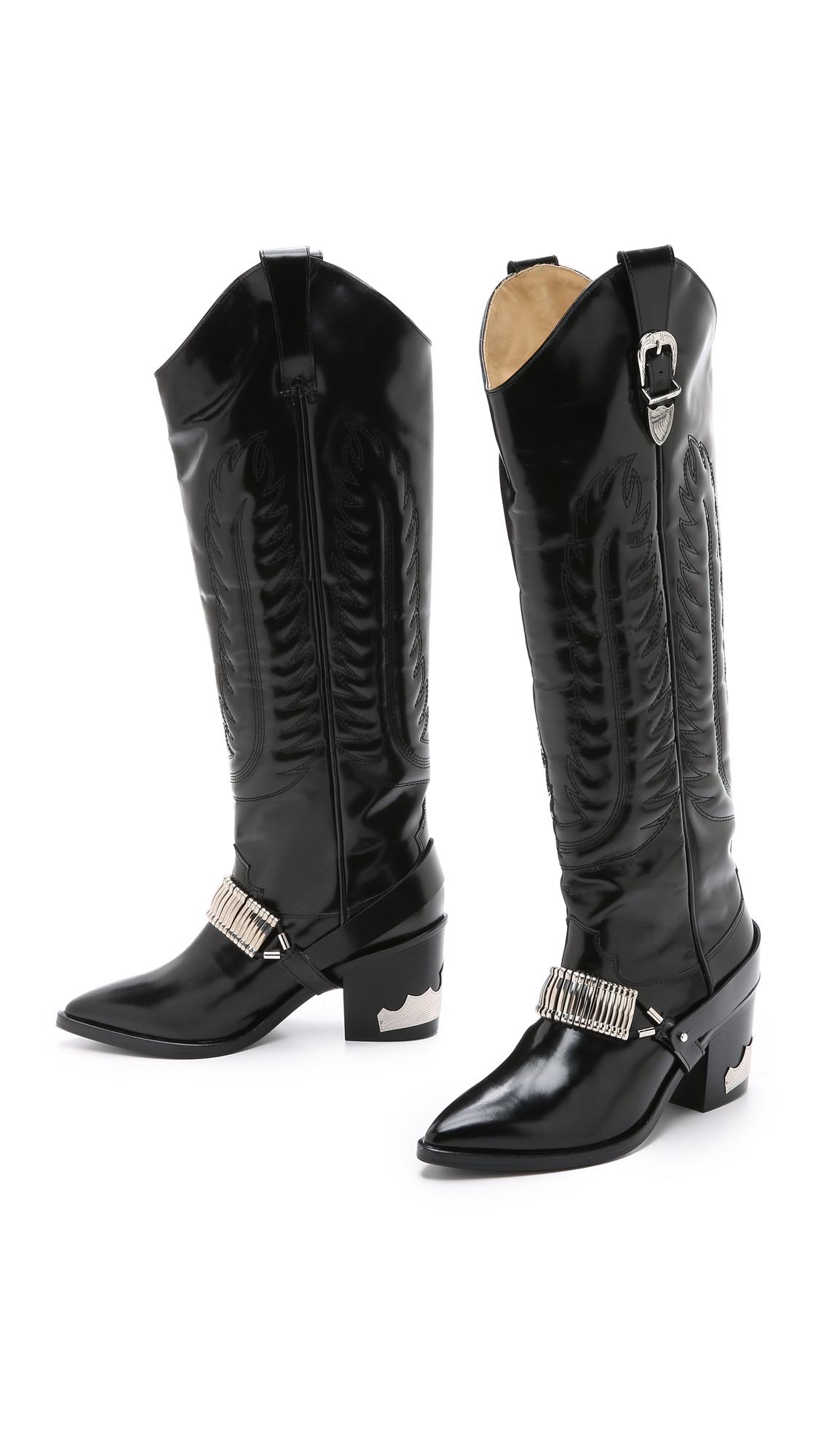 TOGA PULLA Knee high cowboy boots kBcWhmQxB