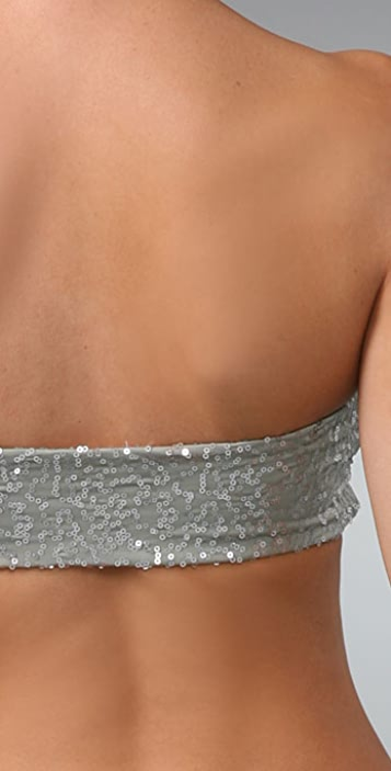 Top Secret Tribute Sequin Bandeau