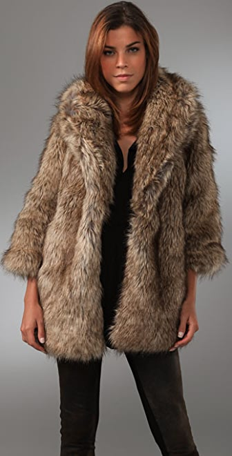 Coat With Faux Fur