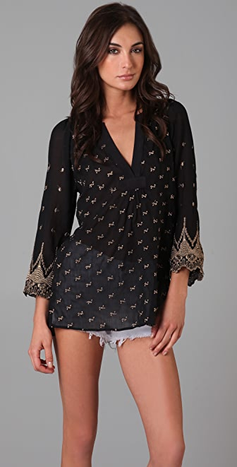 Burning Torch Gold Coast Blouse