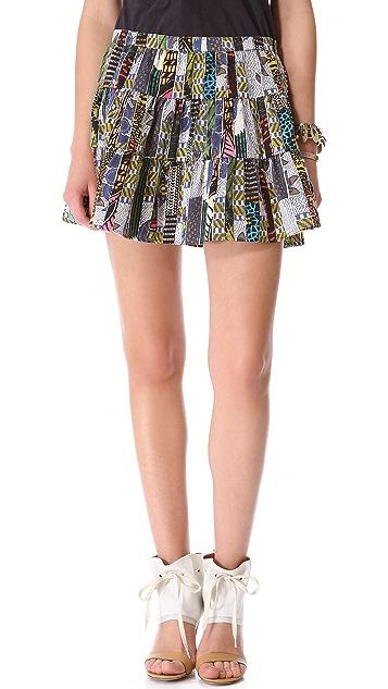 Burning Torch Ashanti Tiered Skirt