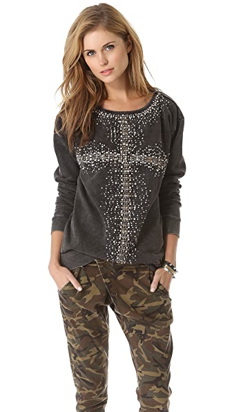 Burning Torch Rock Steady Boat Neck Pullover