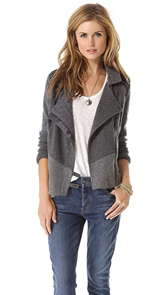 Burning Torch Upcycled Cashmere Moto Sweater