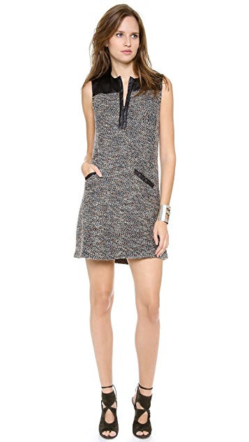 Burning Torch Kingsley Tweed Shift Dress