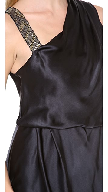 Burning Torch Audrey Dress with Beading Detail