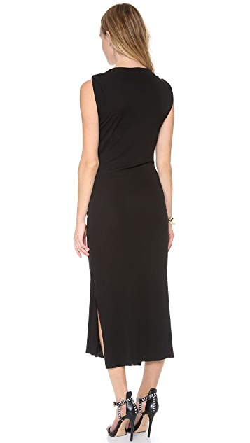 Burning Torch Audrey Dress with Knot Detail