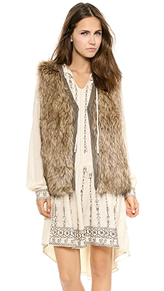 Burning Torch Venus in Furs Faux Fur Vest