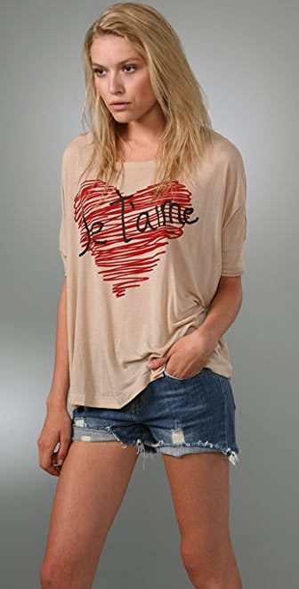 Torn by Ronny Kobo Giselle Je t'Aime Heart Tee