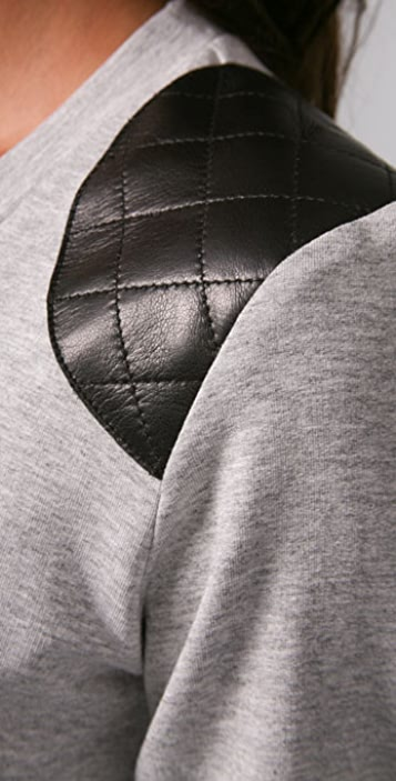 Torn by Ronny Kobo Maureen Sweatshirt with Leather Patch