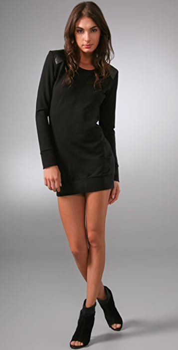 Torn by Ronny Kobo Maureen Dress with Leather Patch