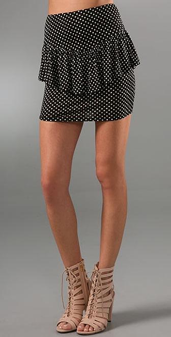 Torn by Ronny Kobo Robyn Polka Dot Miniskirt