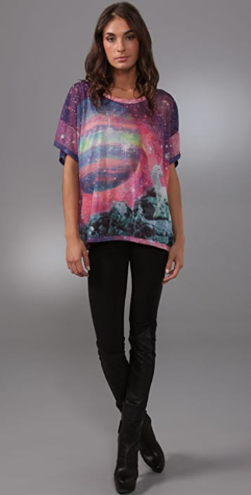 Torn by Ronny Kobo Bianca Unicorn Moon Tee