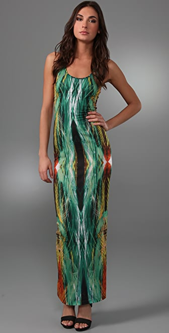 Torn by Ronny Kobo Adrianne Laser Brush Long Dress