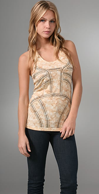Torn by Ronny Kobo Denise Palm Trees Tank