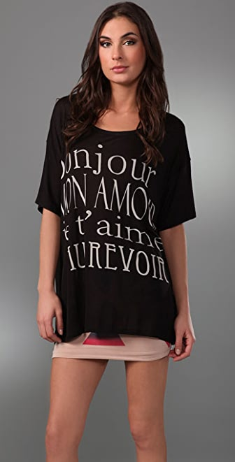 Torn by Ronny Kobo Winona French Lesson Tee