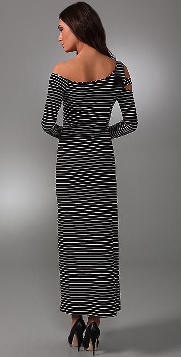 Torn by Ronny Kobo Naomi Striped Long Dress