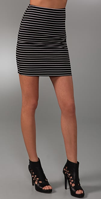 Torn by Ronny Kobo Astrid Striped Miniskirt