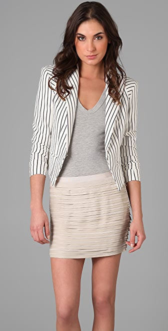 Torn by Ronny Kobo Kat Striped Blazer