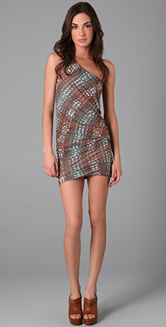 Torn by Ronny Kobo Steffe Draped Croco Dress