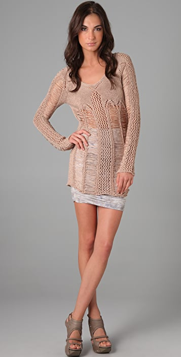 Torn by Ronny Kobo Mia Holes Sweater